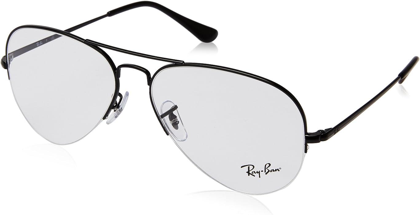a14bcc1698 Amazon.com  Ray-Ban Unisex RX6589 Eyeglasses Black 56mm  Clothing