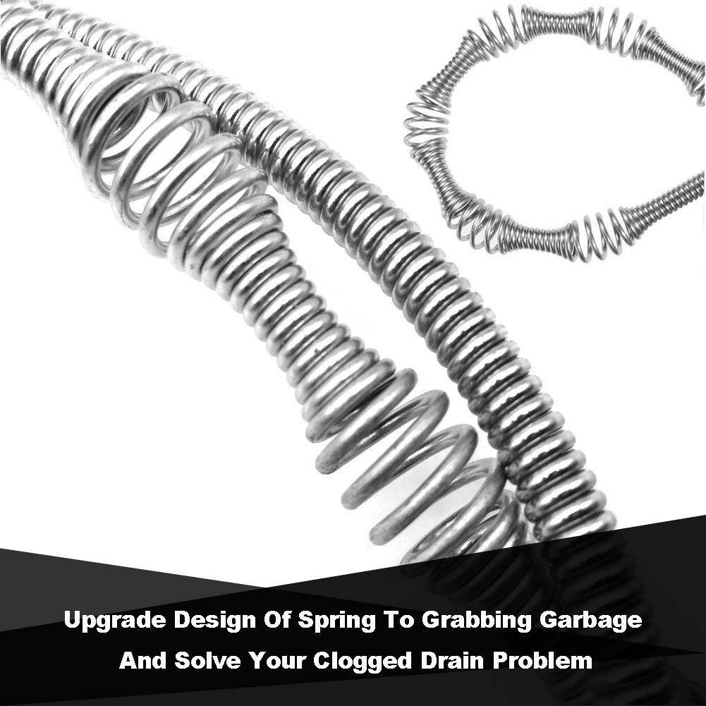 Drain Cleaner, Professional 39.30 Inch Drain Snake Hair Catcher-Drain Cleaner Tool for Bathroom Tub, Toilet, Clogged Drains, Dredge Pipe, Sewers, Sink, Kitchen Sink Slow Drain Relief (Pack of 2) by Yi PF G star (Image #3)