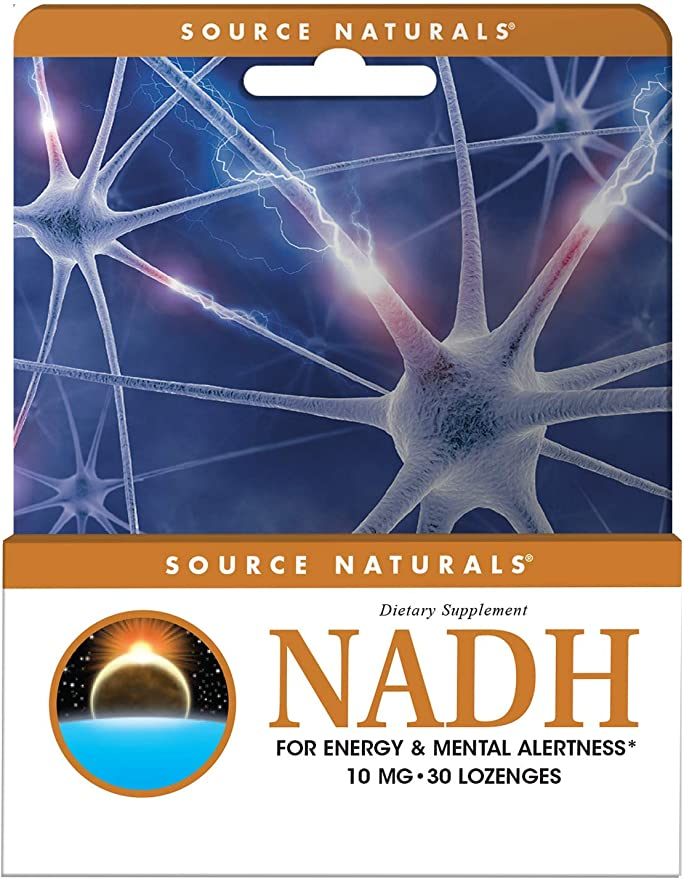 Source Naturals NADH for Energy & Mental Alertness 10mg 30 Lozenges