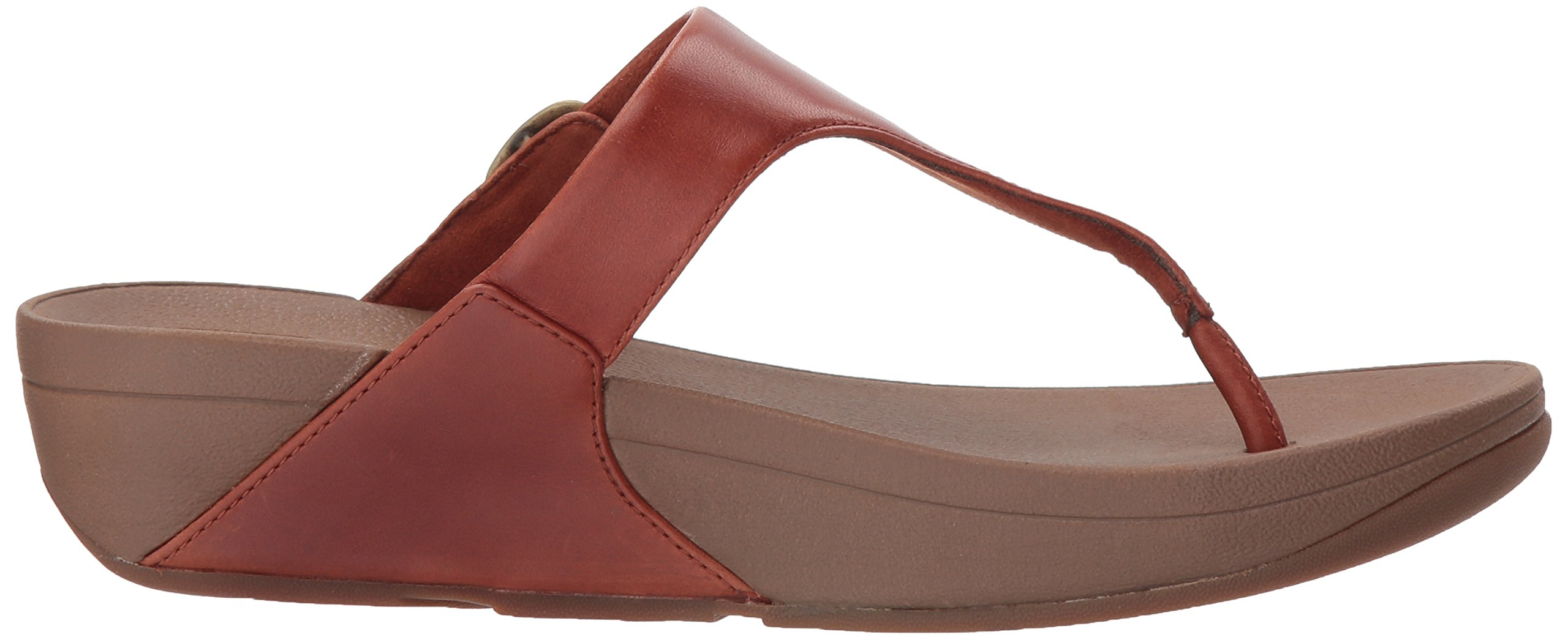 FitFlop Women's The Skinny Leather Toe-Thong Sandal, Dark Tan, 10 M US by FitFlop (Image #7)