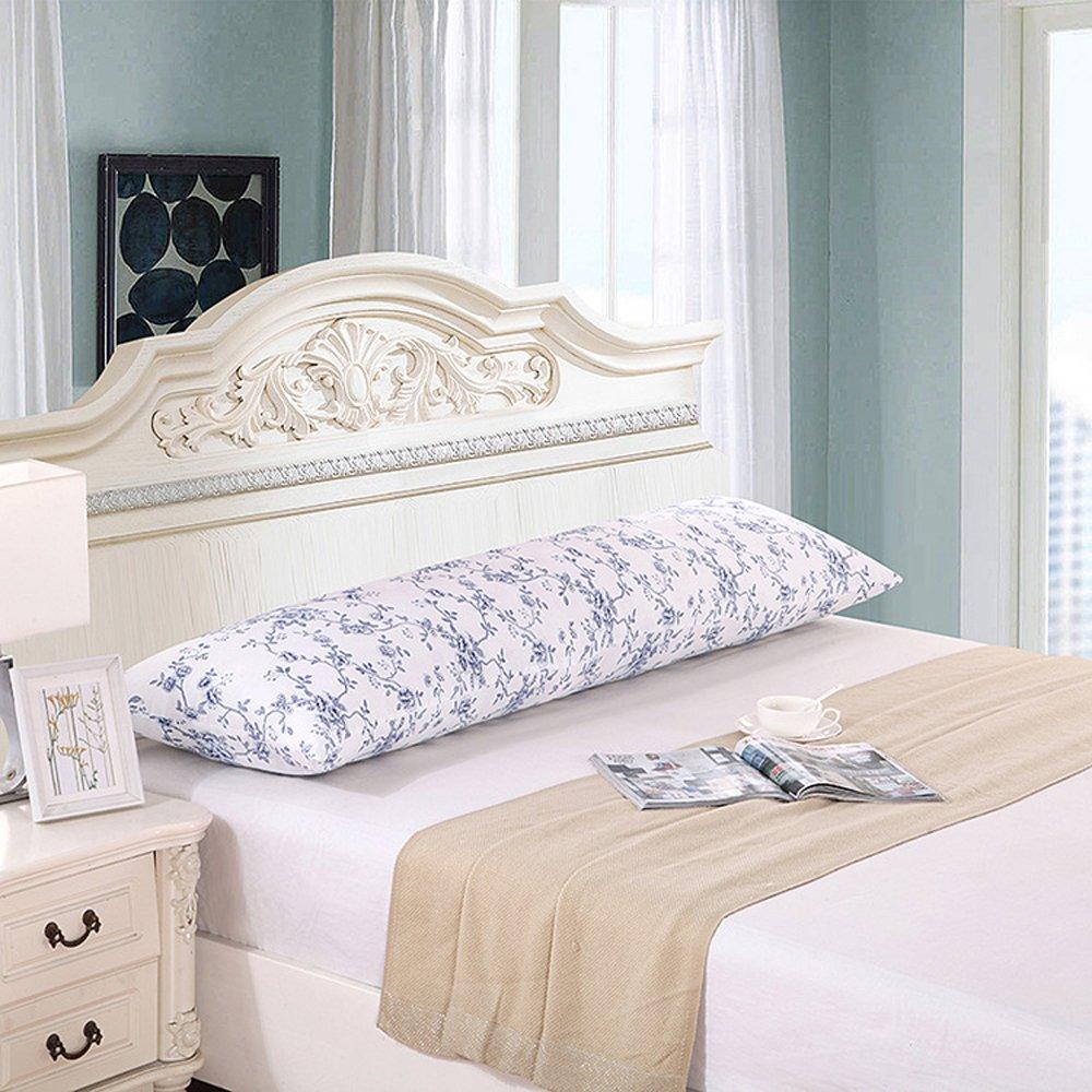 超快適Extra Long Body Pillow with Zipper Closure 19 x 59 inch ホワイト 19 x 59 inch  B07C3KSKCT