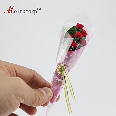 Meirucorp Dollhouse 1:12 Scale Miniatures Romantic Red Rose 09821: Toys & Games