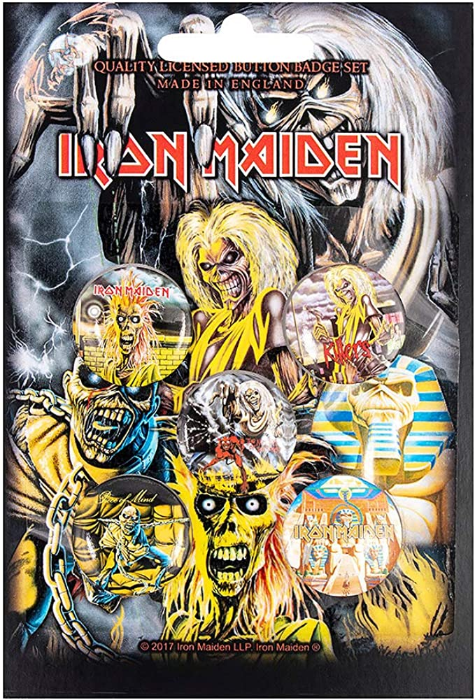 Unbekannt Iron Maiden Early Albums Button-Set Mehrfarbig