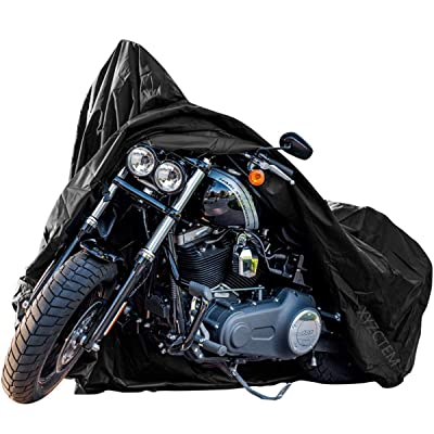New Generation Motorcycle cover ! XYZCTEM All Weather Black XXXL Large Waterproof Outdoor Protects Fits up to 118 inch for Harley Davidson, Honda, Suzuki,Yamaha and More: Automotive