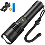 Rechargeable 3500 High Lumens LED Flashlight,Zoomable 5 Modes,Usb Tactical Bright Torch Flashlights,Cree XHP50…
