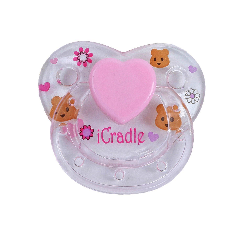 Pursue Baby 1 Pcs / Set I Cradle Sucette Magnétique pour Reborn Baby Doll, Mignon Magnétique Nipple Dummy pour Doll Artiste