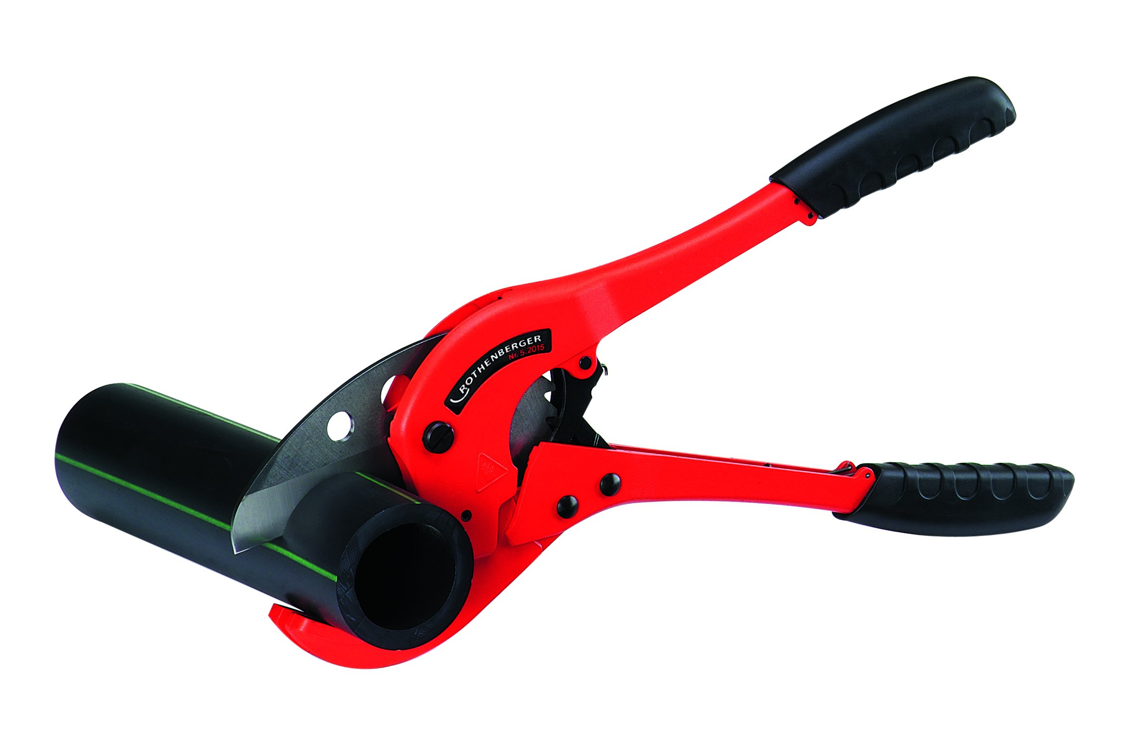 ROTHENBERGER 52015 Rocut 75TC - Professional Pipe Shears: Max. Sch. 40 PVC, 2-1/2'' and Max O.D. 3''