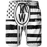 American Flag Kenworth Mans Swim Trunks Quick Dry Beach Board Shorts Summer Surf Beach Shorts with Pockets