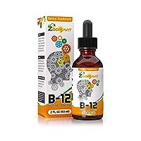 Vitamin B Complex Liquid Drops with Fast Absorption - Super B Liquid Complex Vitamins...