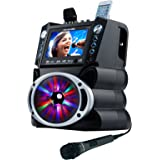 """Karaoke GF842 DVD/CDG/MP3G Karaoke System with 7"""" TFT Color Screen, Record, Bluetooth and LED Sync Lights"""