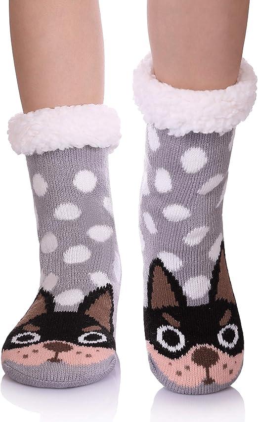 Motif animal de dessin anim/é Douces et /épaisses HERHOREBO Chaussettes chaudes pour gar/çons et filles Id/ée cadeau