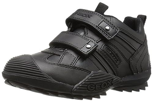 Zapatos negros con velcro Geox Savage infantiles qZX9iW