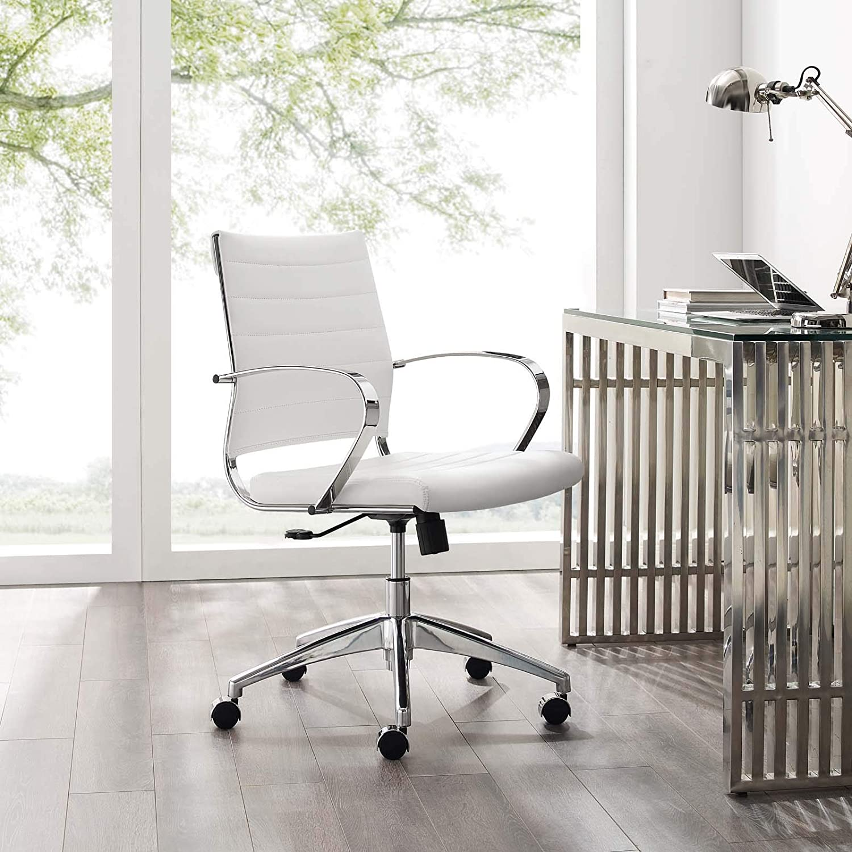 Modway Jive Mid Back Office Chair White Furniture Decor Amazon Com