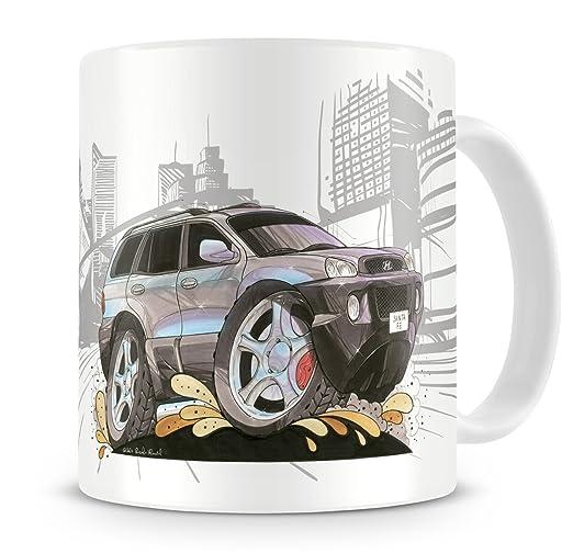 KOOLART kruzroyal caricatura de Hyundai Santa FE - Taza de café ...