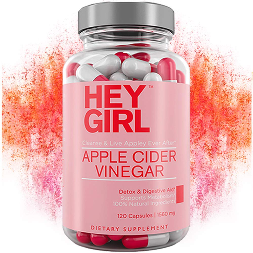 Apple Cider Vinegar Capsules - Great for Detox, Cleanse + Natural Weight Loss | Reduces Bloating and Aids Digestion to Keep Your Gut Happy by Hey Girl Nutrition by Hey Girl Nutrition