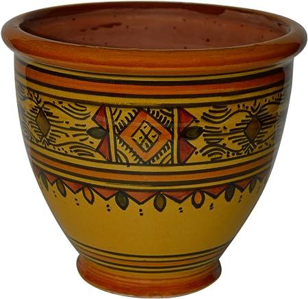 "Marokkanischer Keramik-Blumentopf /""Safi/"" Gelb"