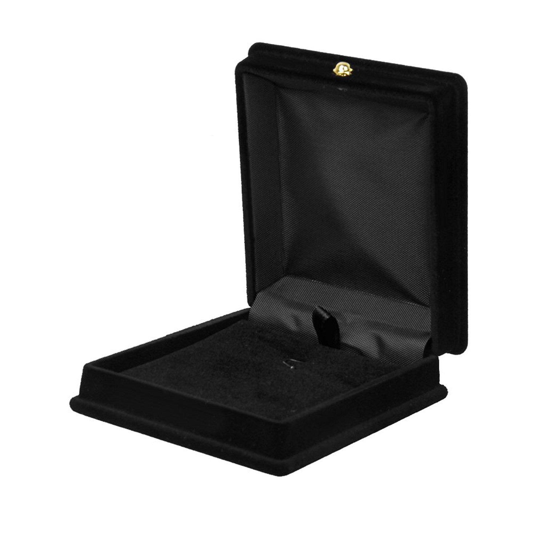 Xiton 1 x Collier Velours Chaî ne Bijoux Affichage Boî te de Rangement Cadeau Organisateur Holder Case - Noir