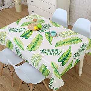 LEMON. Floral Stain Resistant Washable and Spillproof Polyester Fabric Table Cloth 100% Waterproof PVC Table Cloth for Kitchen and Dining Room 23x60 Inch (Traveler)