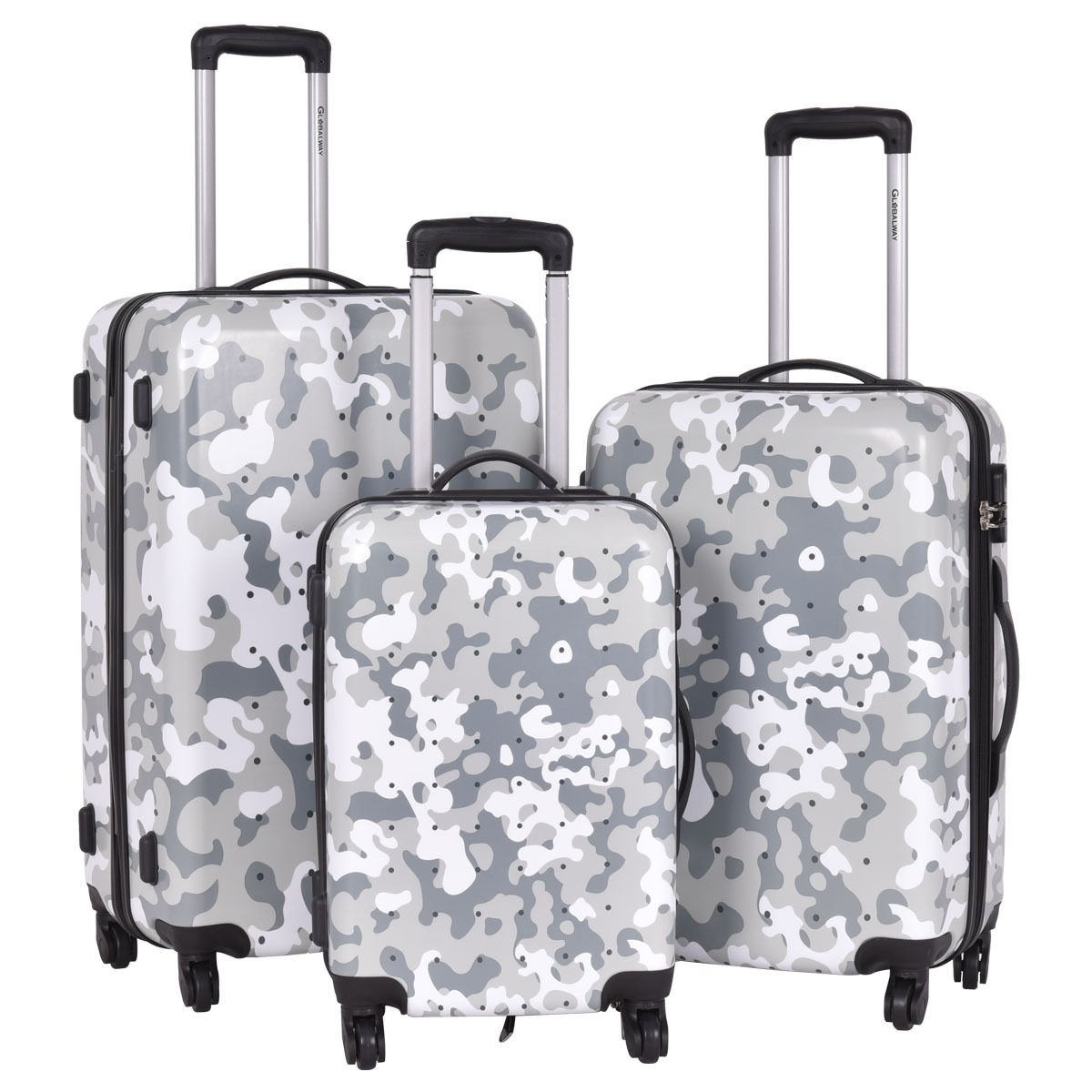 Travel Luggage Set 3 Pcs ABS+PC Trolley Suitcase With Code Lock
