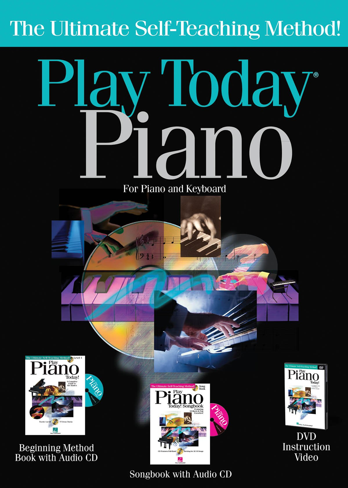 Hal Leonard 702997 Play Piano Today Complete Kit with Method Book/CD Songbook/CD and DVD - Box-Hang Tab by Hal Leonard