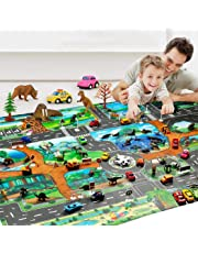 omdoxs Kids Taffic Play Alfombras, Animal Road Rug, Home Decor Baby Gyms & Playmats Juguetes educativos