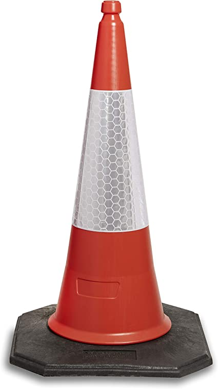 Pack of 10 Red Traffic cones 750mm by innovatus