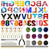 Kyrieval Resin Letter Molds Backwards Alphabet Silicone Mold for DIY Making Epoxy Resin Keychains Crafts Jewelry