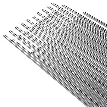 KKmoon 50PCS Alambre de soldadura de aluminio de baja temperatura con núcleo de flujo 2mm * 500mm Al soldar Rod sin necesidad de polvo de soldadura: ...