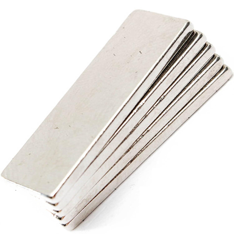 efeel® Strong 40mm x 10mm x 3mm NdFeb Neodymium Block Bar Magnets N35 Grade (5pcs) RLSDXYZ04832