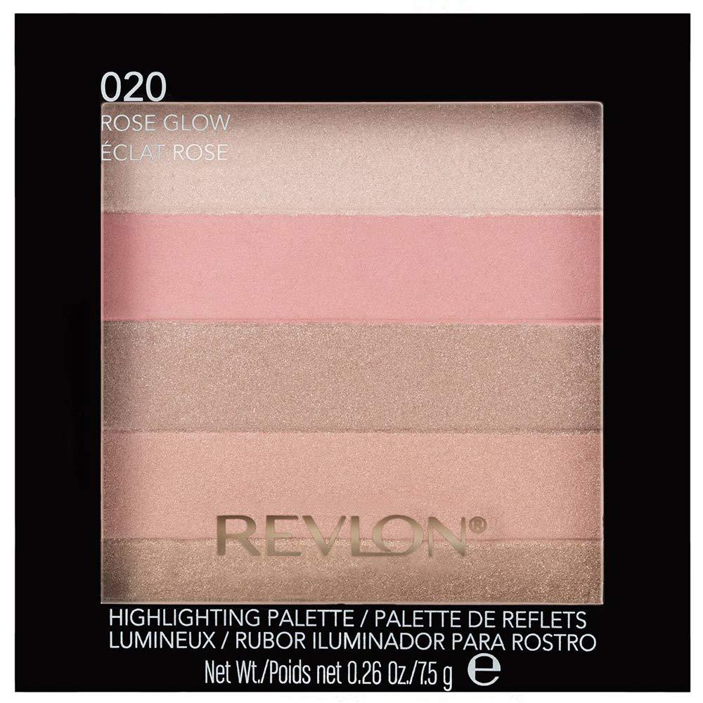 Revlon Highlighting Palette, Rose Glow [020] 0.26 oz (Pack of 2)