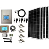 WindyNation 400 Watt (4pcs 100W) Solar Panel Kit with MPPT TrakMax 30L Charge Controller Complete Kit for RV's, Boats and Off-grid Applications