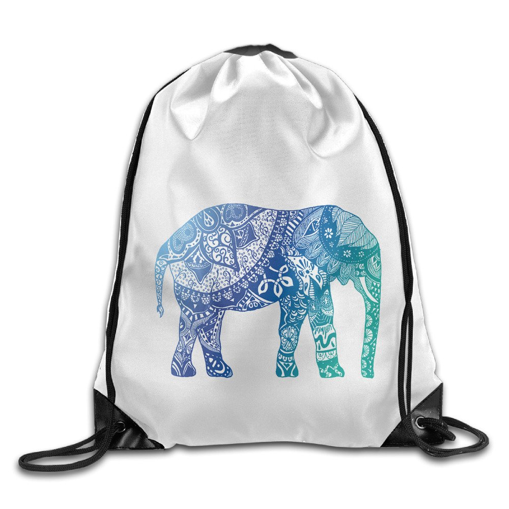 020063aaf3 low-cost Blue Elephant Drawstring Backpack Cool Sports Bag ...
