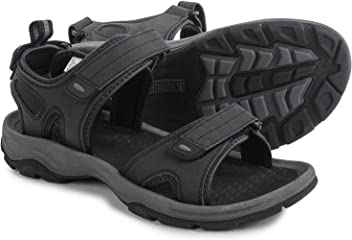 Khombu Mens Barracuda Sport Sandals Black