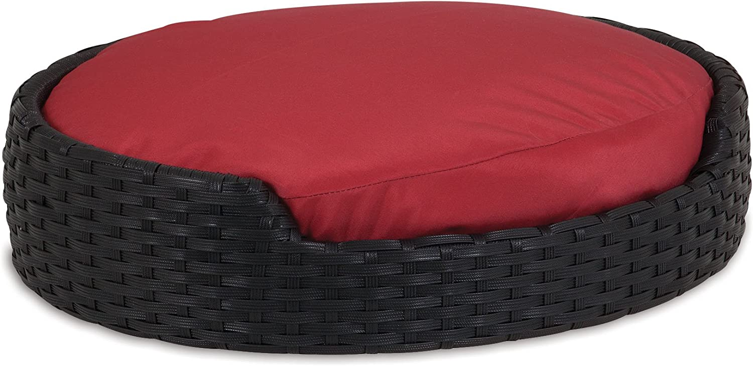 Petmate Poly Wicker Bed with Cushion