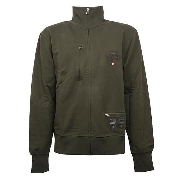 Felpa C0976 Verde Men Aeronautica Militare Zip Sweatshirt Full Uomo z5xEWR