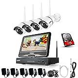 Sannce 4CH HD Système de Caméra de Sécurité sans Fil ONVIF - 4CH 1080P NVR LCD Ecran Moniteur 10,1 Intégré + 4 * 720P IP Caméra WiFi Surveillance Jour/Nuit Haute Résolution avec 1TB HDD Surveillance