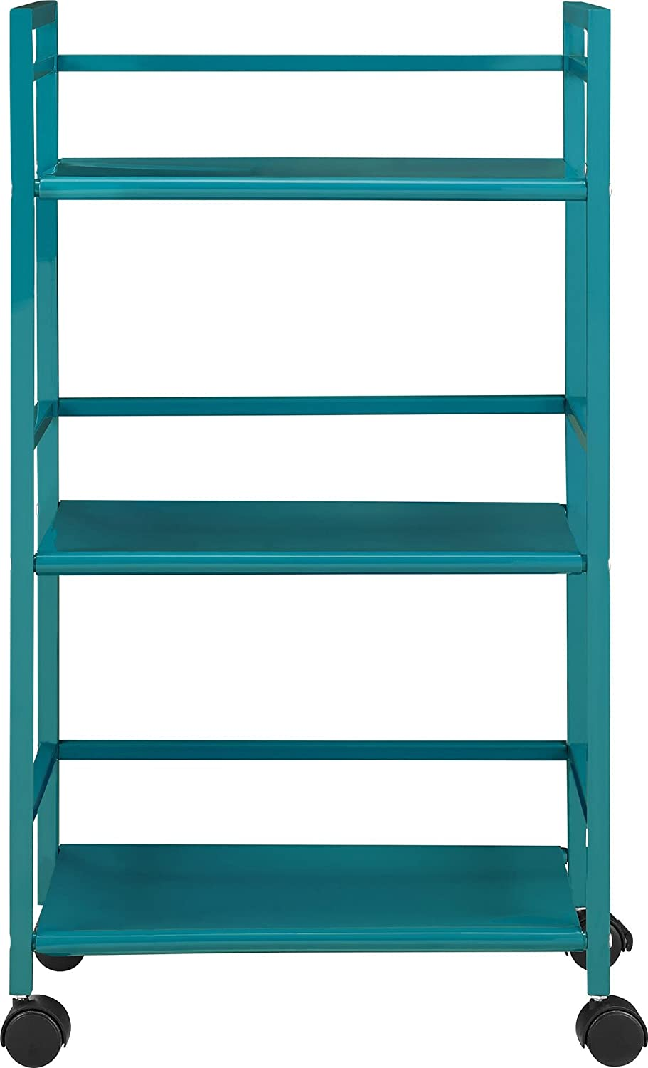 rolling carts for office. Amazon.com: Ameriwood Home Marshall 3 Shelf Metal Rolling Utility Cart, Teal: Kitchen \u0026 Dining Carts For Office L
