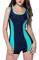 beautyin Women's Boyleg One Piece Swimsuits Sports Bathing Suit Swimwear