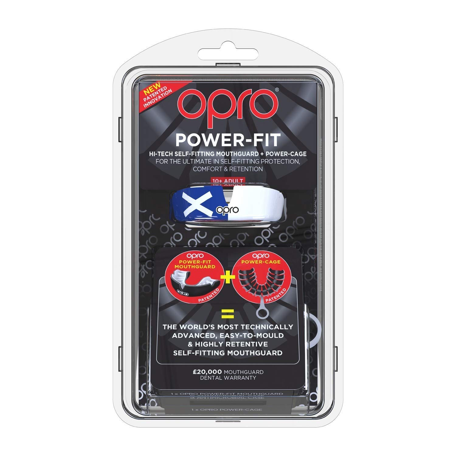 Opro Power Fit Countries Mouth Guard Scotland Adult Boxing Rugby Hockey