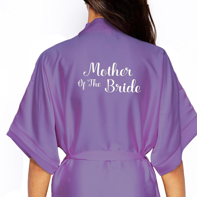 Kimono de satén personaliseitonline/bata., (dama de honor) gris/plata: Amazon.es: Hogar