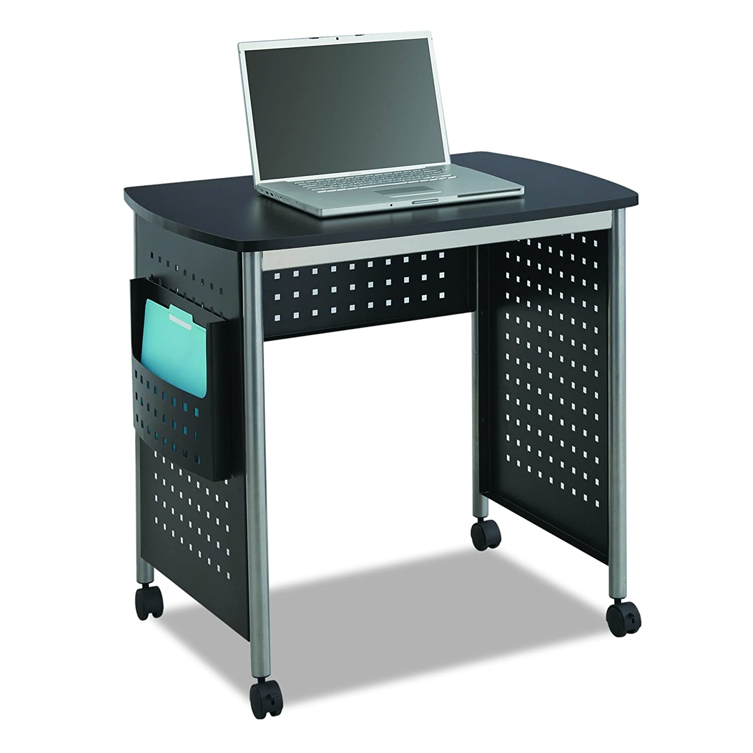 Amazon.com: Safco Products 1908BL Scoot Stand Up Computer Workstation Desk  With File Pocket, Black: Kitchen U0026 Dining