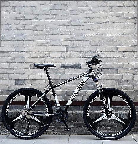 WJSW Bicicleta montaña 24 Pulgadas, Freno Doble Disco/Bicicletas ...