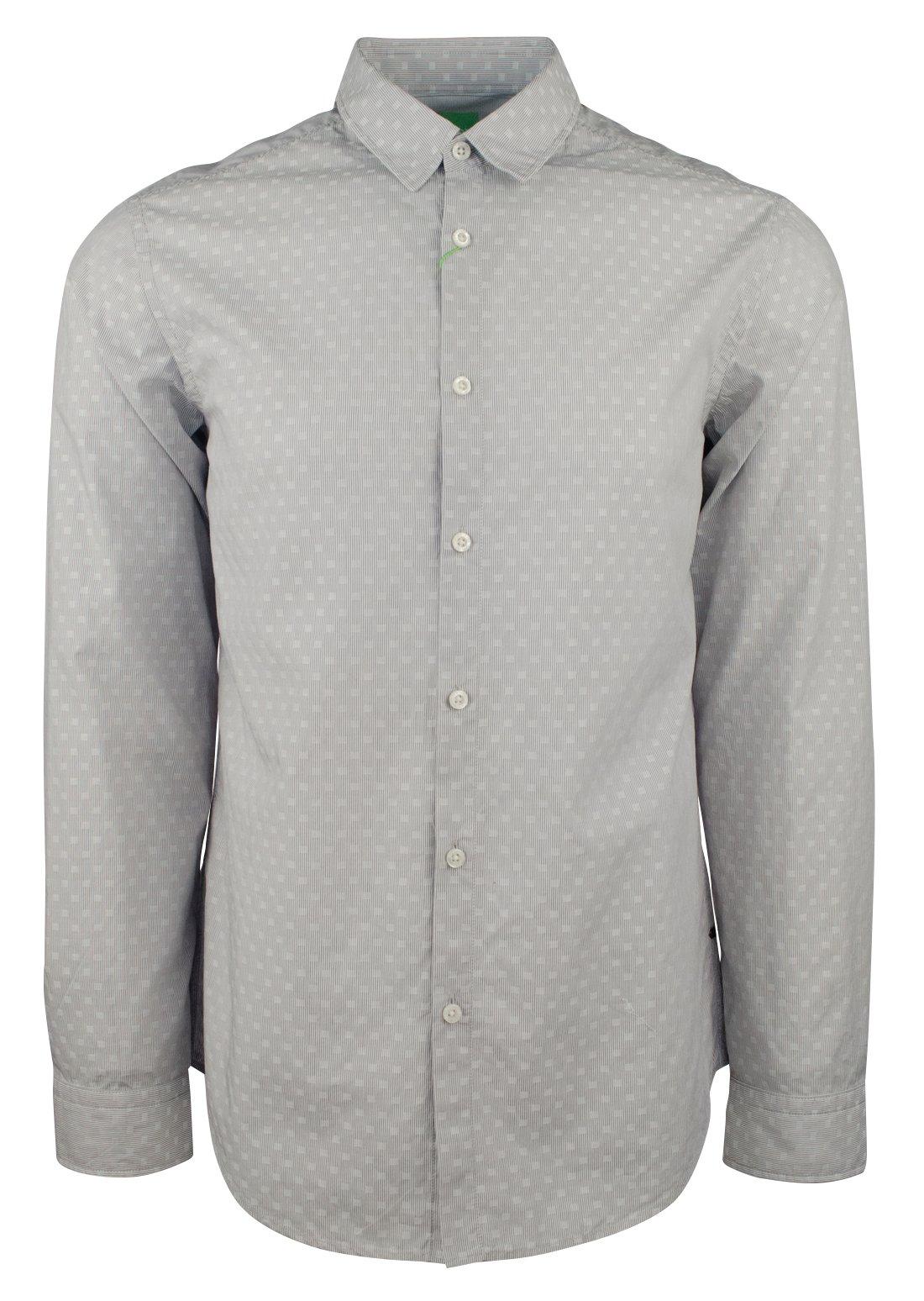 Hugo Boss Men's Green Label C-Bustai Geometric Regular Fit Shirt-LG-M