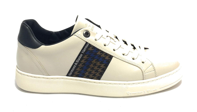 HARMONT E BLAINE Sneaker Pelle di VitelloTessuto off White