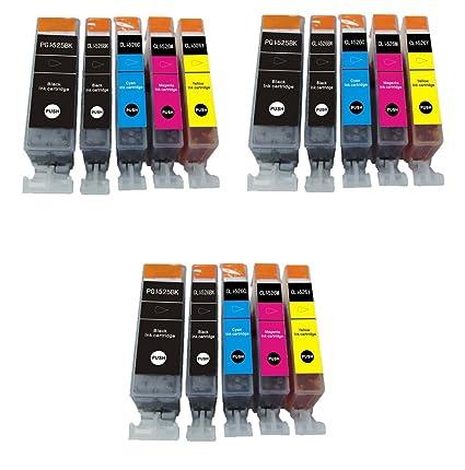 15 Cartuchos de tinta compatibles para impresora Canon Pixma ...