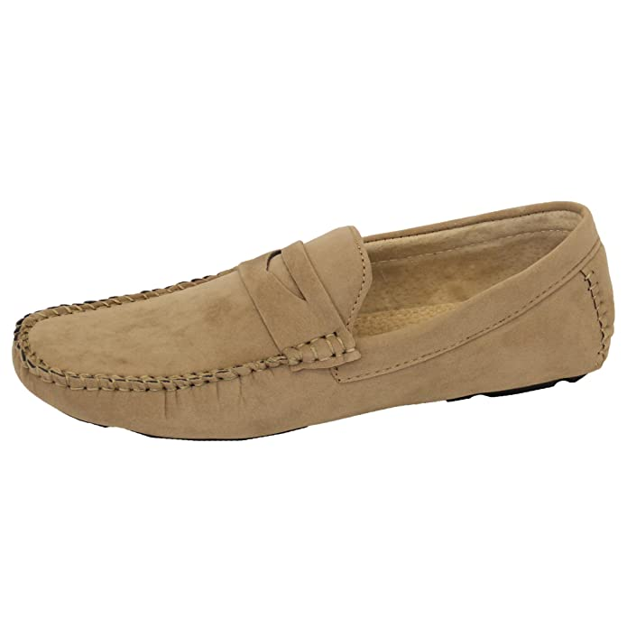 Amazon.com | GALAX Mens Moccasins Suede Leather Look Shoes GH603 | Loafers & Slip-Ons