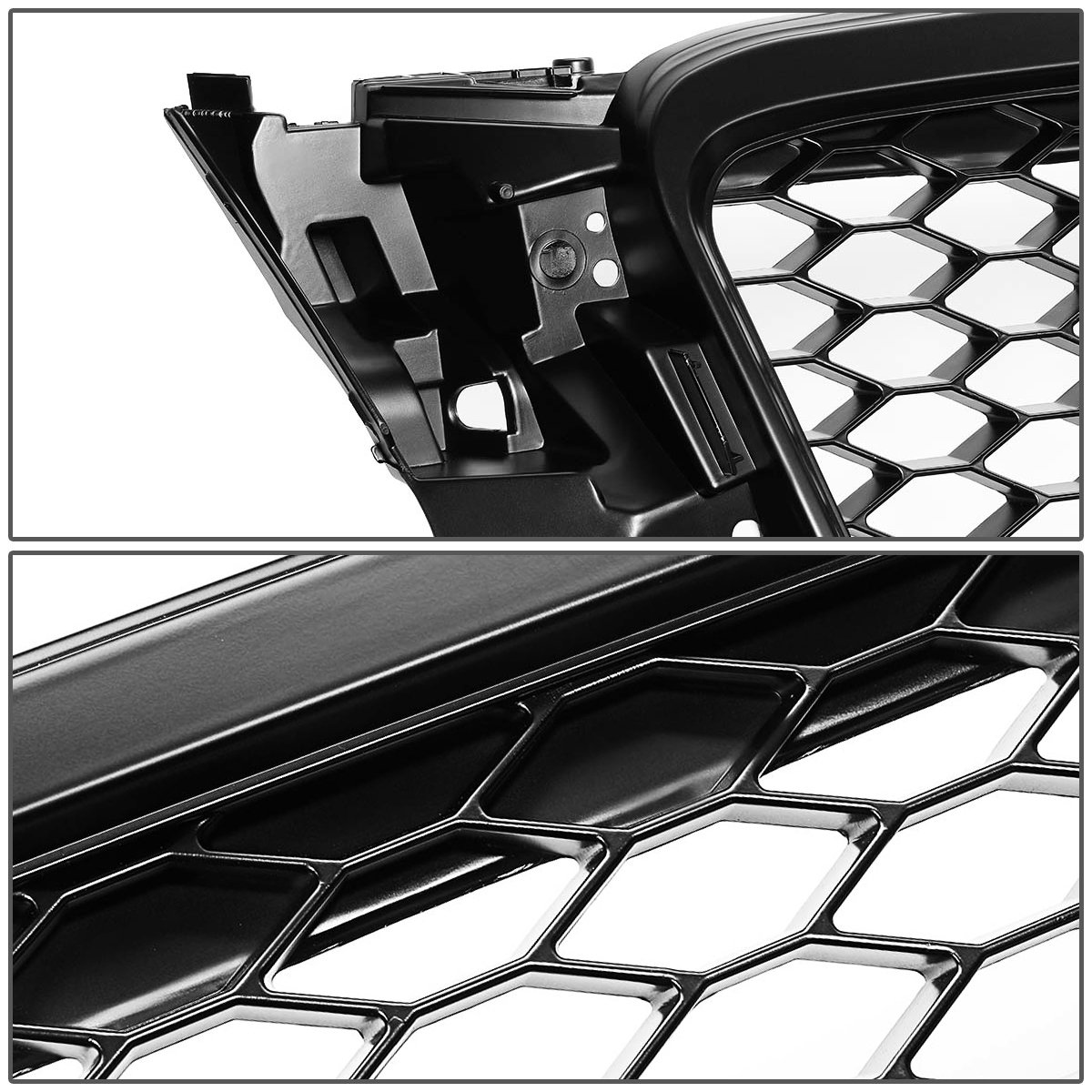 For 08-11 Audi A4 Quattro DNA Motoring GRF-077-BK Front Bumper Grille Guard