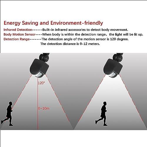 FAISHILAN Motion Sensor Flood Light 50W LED IP65 Waterproof Security Lights 6000K, 4000 Lumen, US 3-Plug Outdoor Wall Light