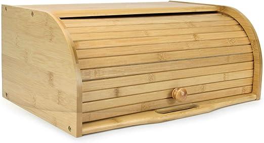 Bandeja de pan de bambú | Caja de pan enrollable | Contenedor de ...