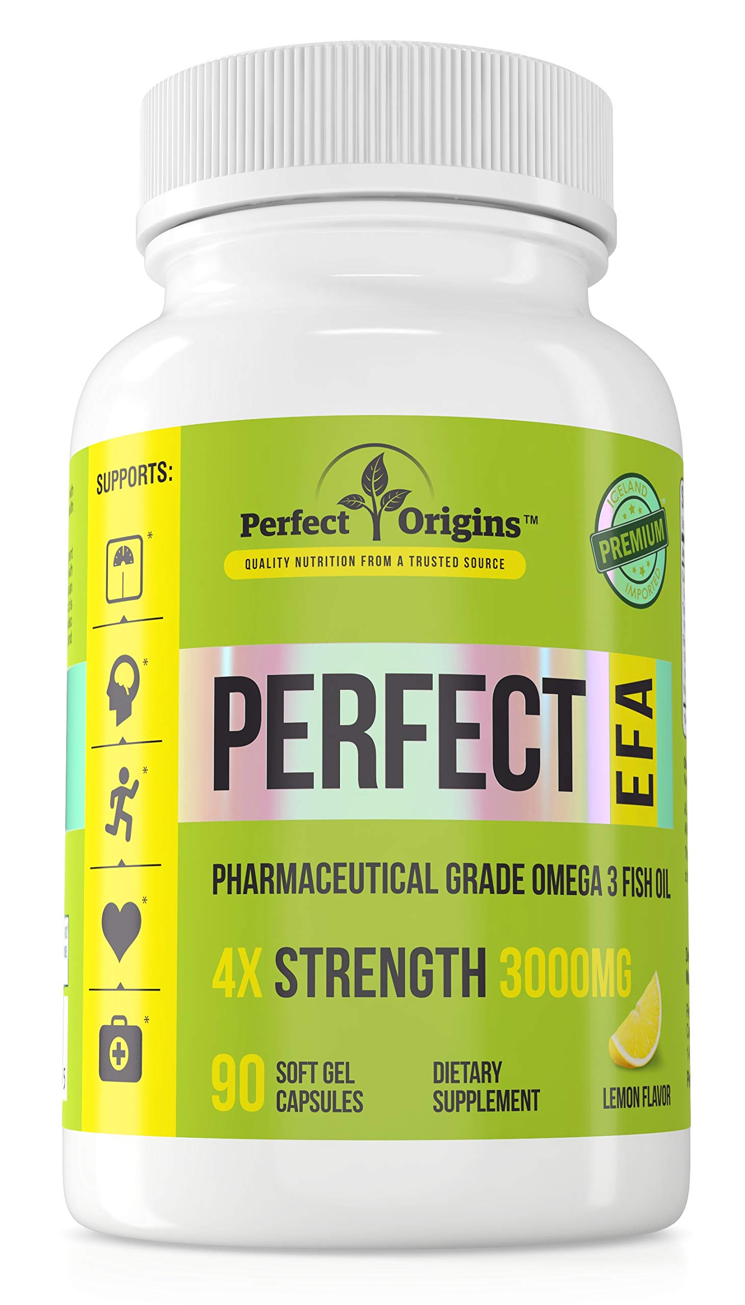 Perfect Origins Perfect EFA, High-Strength Omega 3 for Metabolism, Liver, Thyroid, Heart, Cholesterol, Joints, and Mood